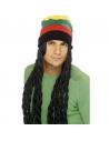 Perruque rasta avec bonnet | Accessoires