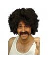 Perruque et moustaches brunes | Accessoires