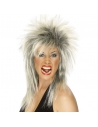 Perruque diva du rock méchée blond/noir | Accessoires