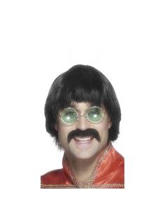 Perruque homme années 70 noire   Accessoires