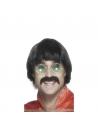 Perruque homme années 70 noire | Accessoires