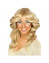 Perruque femme année 70 blonde | Accessoires