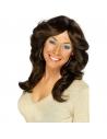 Perruque femme année 70 brune | Accessoires