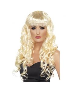 Perruque sirène blonde frisée | Accessoires