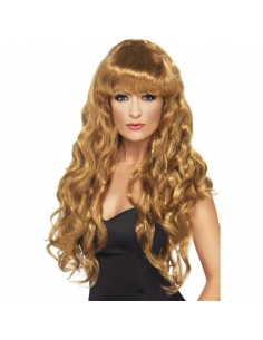 Perruque sirène brune frisée | Accessoires