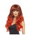 Perruque sirène rouge/noir frisée | Accessoires