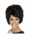 Perruque lady années 60 noire   Accessoires