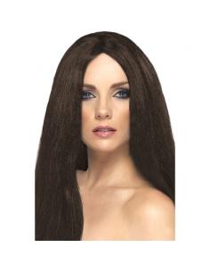Perruque star longue brune | Accessoires