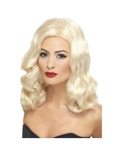Perruque blonde séduisante années 20 | Accessoires