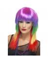Perruque rockeuse multicolore | Accessoires