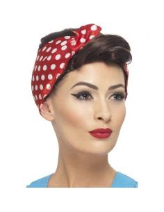 Perruque rosie avec foulard | Accessoires