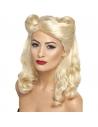 Perruque pin-up années 40 blonde | Accessoires