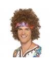 Perruque hippie homme châtain avec bandeau | Accessoires