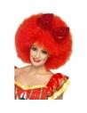 Perruque mega afro clown rouge   Accessoires