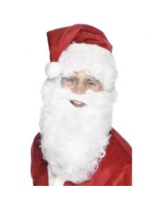 Barbe Père Noël blanche économique   Accessoires