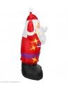 Décoration Père Noël Gonflable, Lumineux avec ventilateur - 3m -