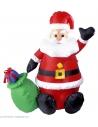 Père Noël Gonflable et Lumineux avec ventilateur - 122cm -