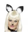 Oreilles de chat noires et blanches   Accessoires