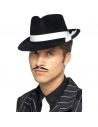Chapeau Al Capone noir et blanc   Accessoires