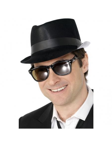 Chapeau Fedora plastique noir   Accessoires