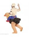 Explorateur porté par une autruche