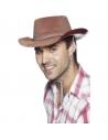 Chapeau cow-boy adulte avec cordelette | Accessoires