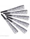 Lot de 6 Trompettes Sonores Bonne Année Argent - 25 cm