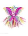 Set de Fée fantaisie multicolore, fille (tutu, ailes, baguette magique)