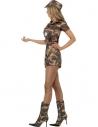 Déguisement militaire femme (combinaison short, ceinture et casquette)
