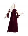 REINE MEDIEVALE (robe, jupon, coiffe avec voile)