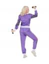 Déguisement Survêtement Années 80 violet, Mixte (veste, pantalon)