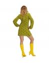 Déguisement disco femme (robe wallpaper verte)