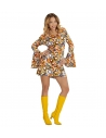 Déguisement disco femme multicolore (robe bubbles multicolore)