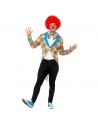 Manteau queue-de-pie adulte clown