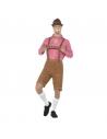 Déguisement Bavarois Homme (short long avec bretelles, chemise rouge)