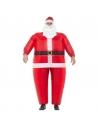 Déguisement piggyback Père Noël gonflable