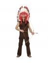 Déguisement Indien marron Homme (tunique, pantalon)
