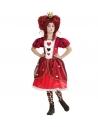 Déguisement Reine de coeur enfant (robe, jupon, couronne)