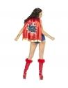 FILLE SUPER POUVOIRS (robe, ceinture, coiffe, cape)