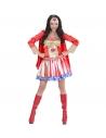 FILLE SUPER HEROS (robe avec cape, coiffe)