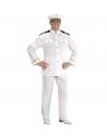 Déguisement Capitaine de la Marine blanc, Homme (veste, pantalon, casquette)