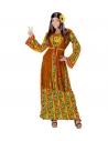 FEMME HIPPIE (robe avec veston, collier peace & love)