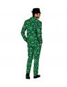Déguisement Ganja Style Homme vert (veston, pantalon, cravate)