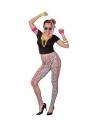 Déguisement femme années 80 (T-shirt, legging, colliers)