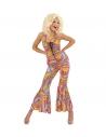 Déguisement disco femme (combinaison pantalon multicolore)
