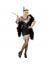 Déguisement années 20 femme  noir (robe, bandeau avec plume)