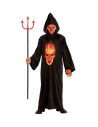 Déguisement Diable rouge et noir enfant (tunique à capuche)