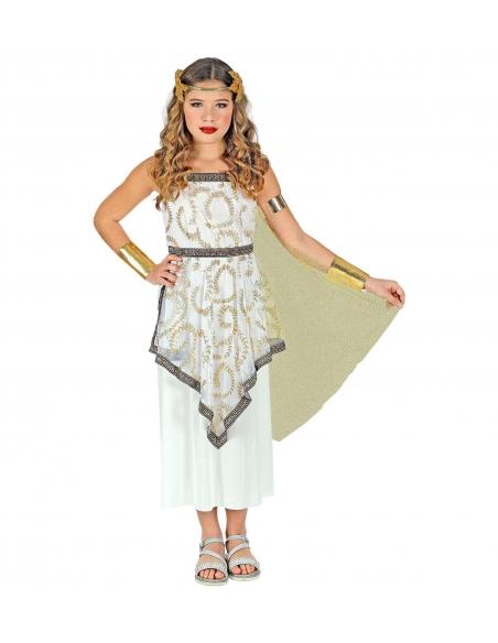 Deguisement Deesse Grecque Fille Robe Avec Drape Deguiz Fetes Taille 140 Cm 8 10 Years