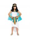 REINE EGYPTIENNE (robe, tour de cou avec voiles et poignets, ceinture, serre-tete)