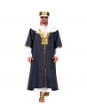 Déguisement Sultan Homme noir et blanc (robe avec manteau, couvre-tete)